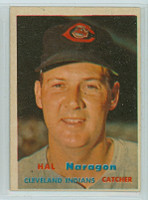 1957 Topps Baseball 347 Hal Naragon Tough Series Single Print Cleveland Indians Very Good to Excellent
