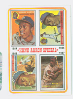 1974 Topps Baseball 2 Hank Aaron 1954-1957 Excellent to Excellent Plus