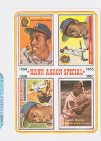 1974 Topps Baseball 2 Hank Aaron 1954-1957 Near-Mint Plus