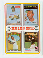 1974 Topps Baseball 6 Hank Aaron 1970-1973 Very Good to Excellent