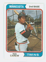 1974 Topps Baseball 50 Rod Carew Minnesota Twins Excellent to Mint