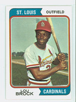1974 Topps Baseball 60 Lou Brock St. Louis Cardinals Excellent to Mint