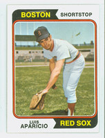 1974 Topps Baseball 61 Luis Aparicio Boston Red Sox Very Good to Excellent