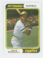 1974 Topps Baseball 100 Willie Stargell Pittsburgh Pirates Excellent to Mint