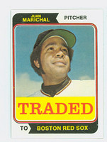 1974 Topps Baseball 330 T Juan Marichal TRADED Boston Red Sox Excellent