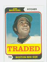 1974 Topps Baseball 330 T Juan Marichal TRADED Boston Red Sox Excellent to Mint