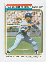 1974 Topps Baseball 473 World Series 2 Excellent to Excellent Plus