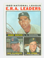1964 Topps Baseball 1 NL ERA Leaders Very Good to Excellent