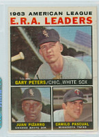 1964 Topps Baseball 2 AL ERA Leaders Excellent