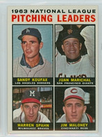 1964 Topps Baseball 3 NL Pitching Leaders Excellent