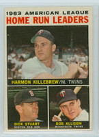 1964 Topps Baseball 10 AL HR Leaders Excellent to Mint