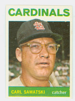 1964 Topps Baseball 24 Carl Sawatski St. Louis Cardinals Excellent to Mint