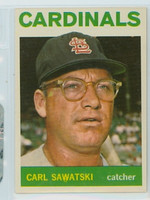 1964 Topps Baseball 24 Carl Sawatski St. Louis Cardinals Near-Mint Plus