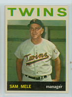 1964 Topps Baseball 54 Sam Mele Minnesota Twins Near-Mint Plus