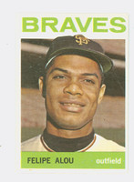 1964 Topps Baseball 65 Felipe Alou Milwaukee Braves Excellent to Mint