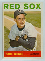 1964 Topps Baseball 93 Gary Geiger Boston Red Sox Excellent to Mint