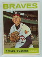 1964 Topps Baseball 152 Denny Lemaster Milwaukee Braves Excellent to Mint