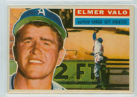 1956 Topps Baseball 3 Elmer Valo Kansas City Athletics Excellent to Mint Grey Back