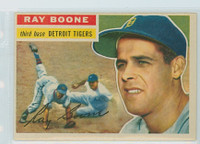 1956 Topps Baseball 6 Ray Boone Detroit Tigers Excellent to Excellent Plus White Back