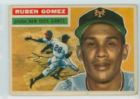 1956 Topps Baseball 9 Ruben Gomez New York Giants Good to Very Good Grey Back