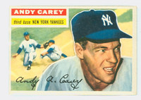 1956 Topps Baseball 12 Andy Carey New York Yankees Excellent Grey Back
