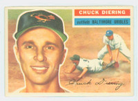 1956 Topps Baseball 19 Chuck Diering Baltimore Orioles Excellent White Back
