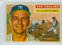 1956 Topps Baseball 21 Joe Collins New York Yankees Excellent to Excellent Plus Grey Back