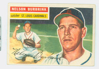 1956 Topps Baseball 27 Nelson Burbrink St. Louis Cardinals Good to Very Good White Back
