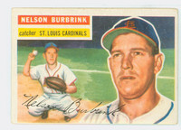 1956 Topps Baseball 27 Nelson Burbrink St. Louis Cardinals Very Good White Back