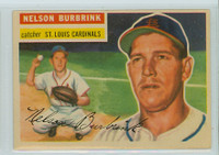 1956 Topps Baseball 27 Nelson Burbrink St. Louis Cardinals Excellent to Excellent Plus White Back