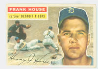 1956 Topps Baseball 32 Frank House Detroit Tigers Very Good to Excellent White Back