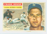 1956 Topps Baseball 32 Frank House Detroit Tigers Excellent White Back