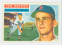 1956 Topps Baseball 34 Tom Brewer Boston Red Sox Near-Mint White Back