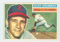 1956 Topps Baseball 37 Alex Grammas St. Louis Cardinals Excellent White Back