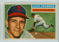 1956 Topps Baseball 37 Alex Grammas St. Louis Cardinals Excellent to Excellent Plus White Back