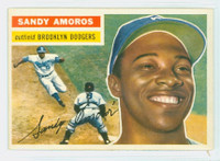 1956 Topps Baseball 42 Sandy Amoros Brooklyn Dodgers Excellent to Mint Grey Back