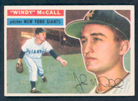 1956 Topps Baseball 44 Windy McCall New York Giants Near-Mint White Back