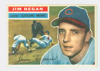 1956 Topps Baseball 48 Jim Hegan Cleveland Indians Excellent White Back