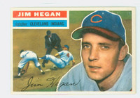 1956 Topps Baseball 48 Jim Hegan Cleveland Indians Excellent to Mint Grey Back