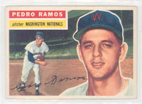 1956 Topps Baseball 49 Pedro Ramos Washington Senators Excellent White Back