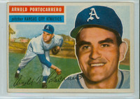 1956 Topps Baseball 53 Arnold Portocarrero Kansas City Athletics Very Good to Excellent Grey Back
