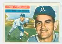1956 Topps Baseball 53 Arnold Portocarrero Kansas City Athletics Excellent White Back