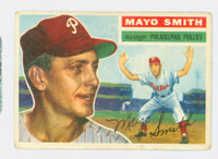 1956 Topps Baseball 60 Mayo Smith Philadelphia Phillies Good to Very Good Grey Back