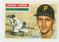 1956 Topps Baseball 65 Johnny O' Brien Pittsburgh Pirates Very Good to Excellent Grey Back