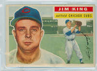 1956 Topps Baseball 74 Jim King Chicago Cubs Very Good to Excellent Grey Back