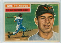 1956 Topps Baseball 80 Gus Triandos Baltimore Orioles Very Good to Excellent Grey Back