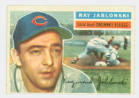 1956 Topps Baseball 86 Ray Jablonski Cincinnati Reds Very Good to Excellent White Back