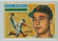1956 Topps Baseball 91 Gail Harris New York Giants Very Good to Excellent Grey Back