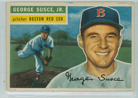 1956 Topps Baseball 93 George Susce Boston Red Sox Very Good to Excellent White Back