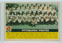 1956 Topps Baseball 121 Pirates Team Very Good Grey Back
